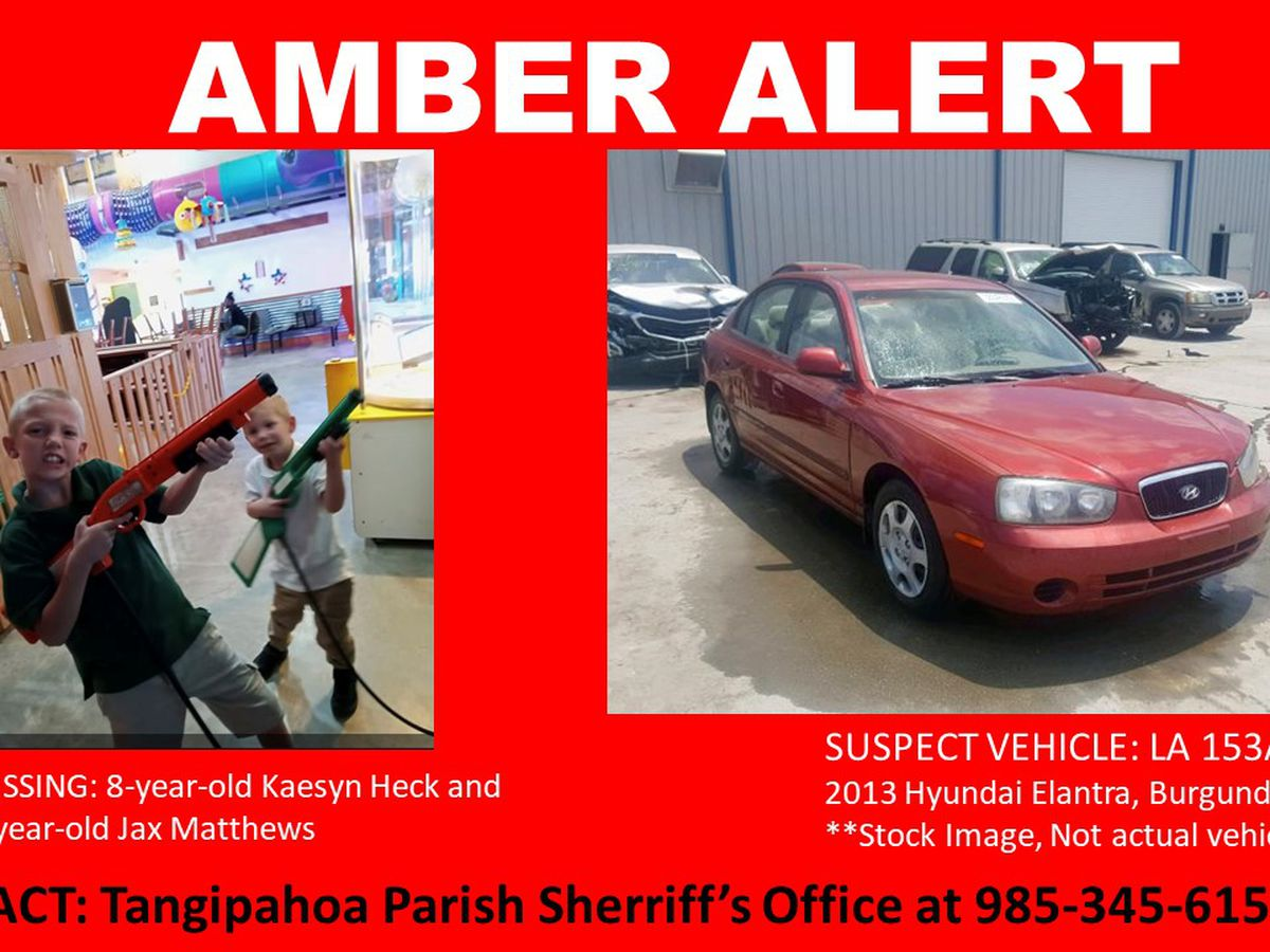 Amber Alert issued for missing southeast Louisiana boys
