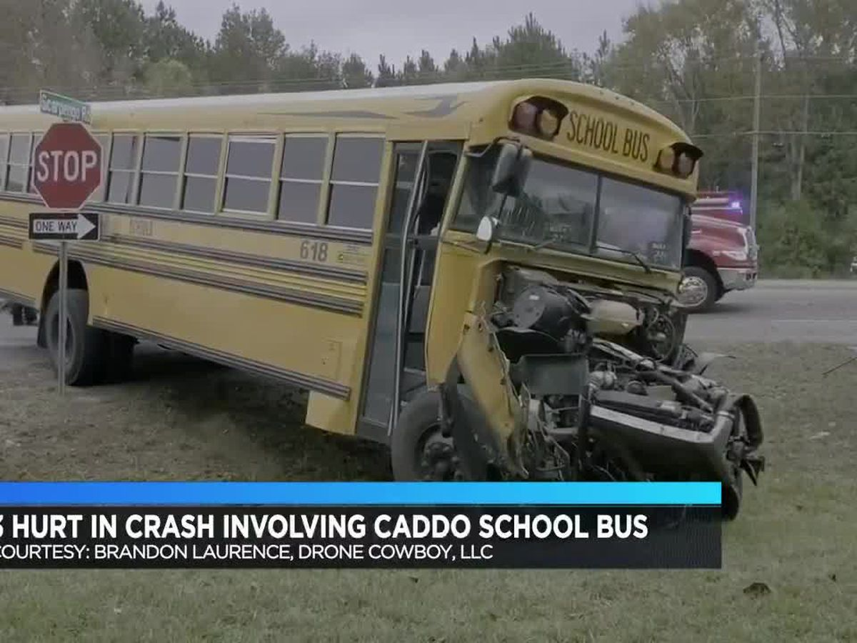 3 hurt in crash involving Caddo Parish school bus