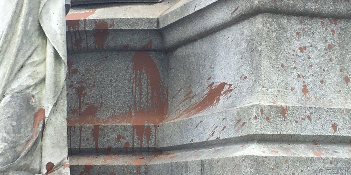 Caddo investigating vandalism of Confederate memorial