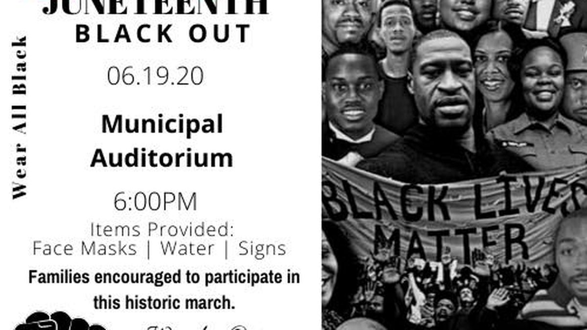Juneteenth march and Blackout Festival Friday night in Shreveport