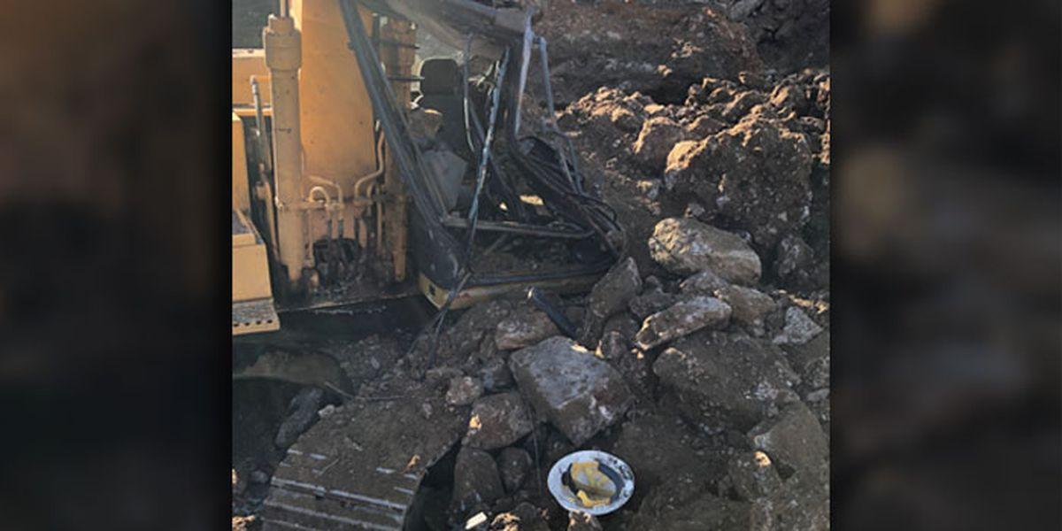 Gun Barrel City first responders rescue man after concrete smashes trackhoe cab