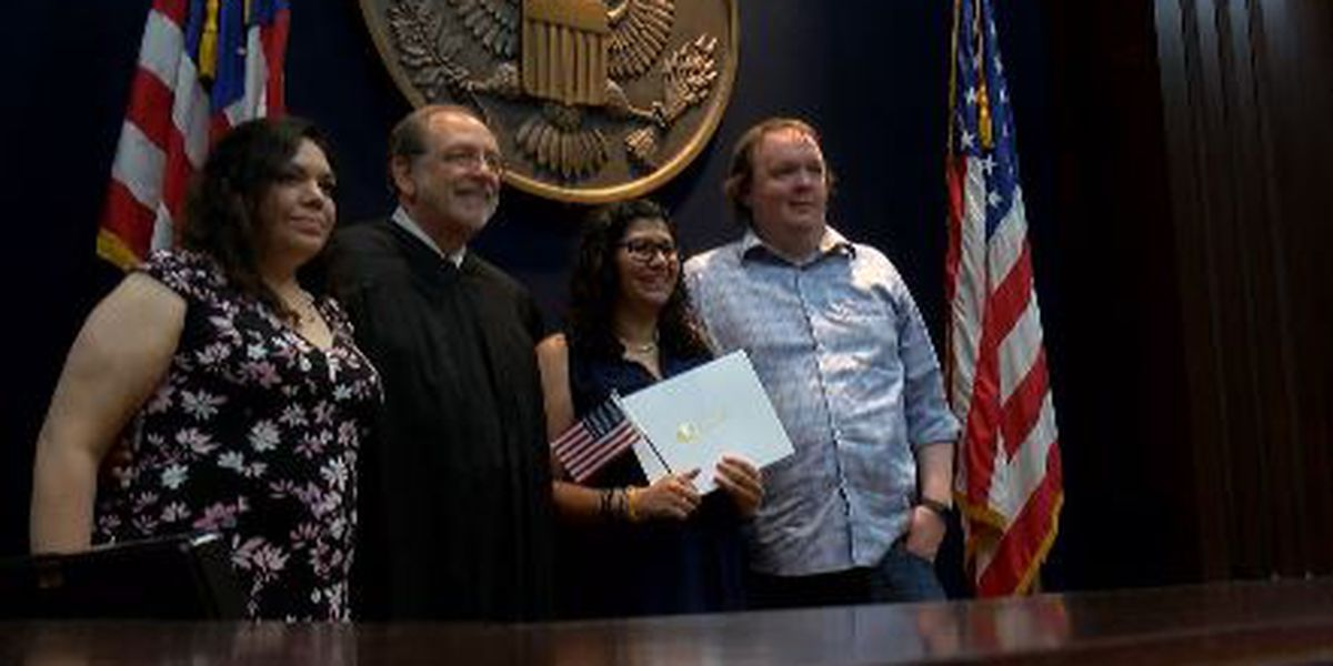 KSLA News 12 employee, 33 others become U.S. citizens on Fourth of July