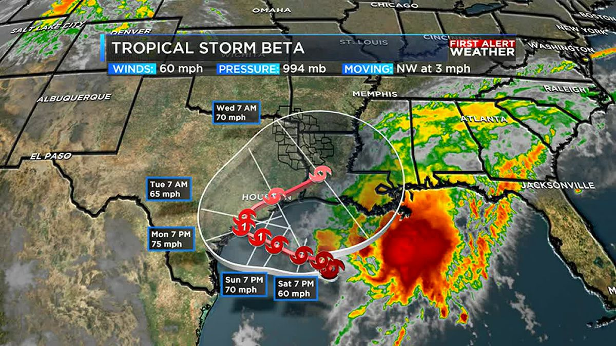 Tropical Storm Beta updates and wet work week