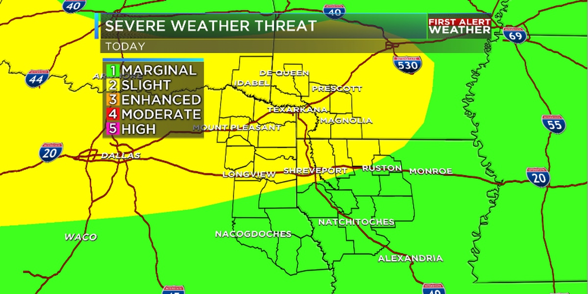 Severe weather chances kick off unsettled week