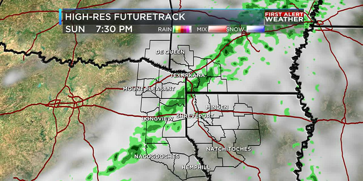 Cold front brings light showers to the ArkLaTex today