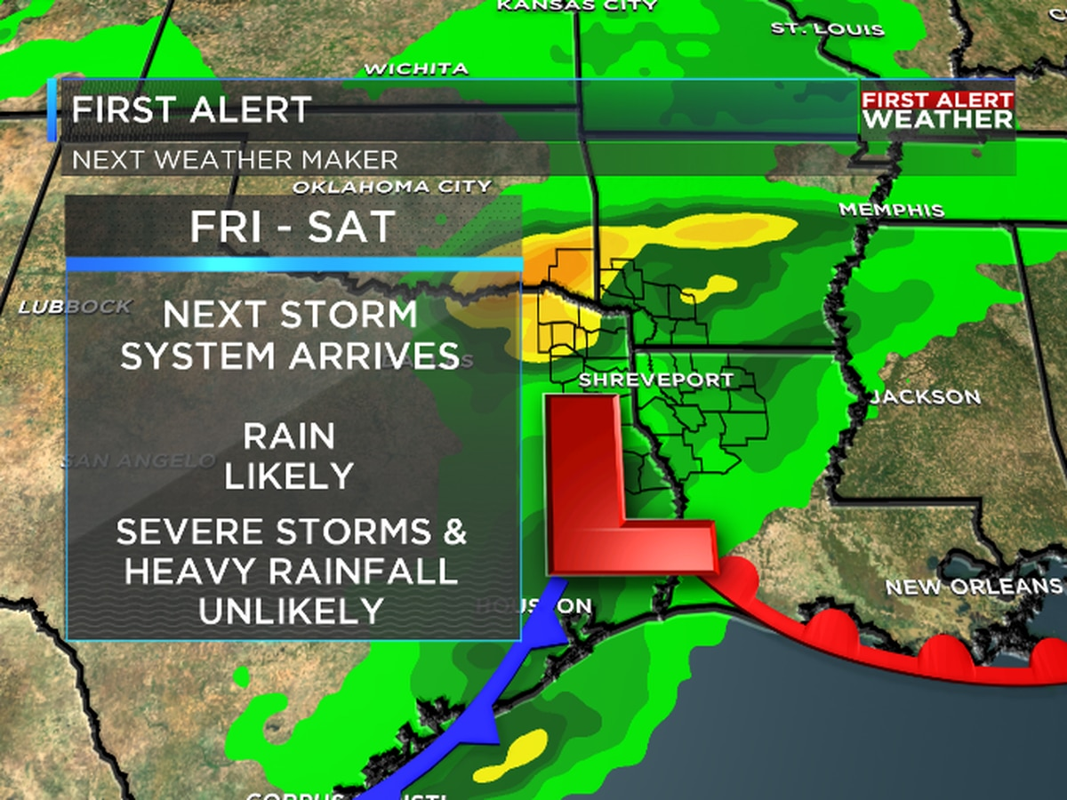 FIRST ALERT: Next round of rain moves through late Friday-Saturday