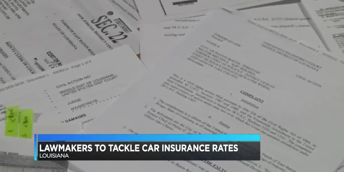 Louisiana lawmakers want to change car insurance rates during legislative session