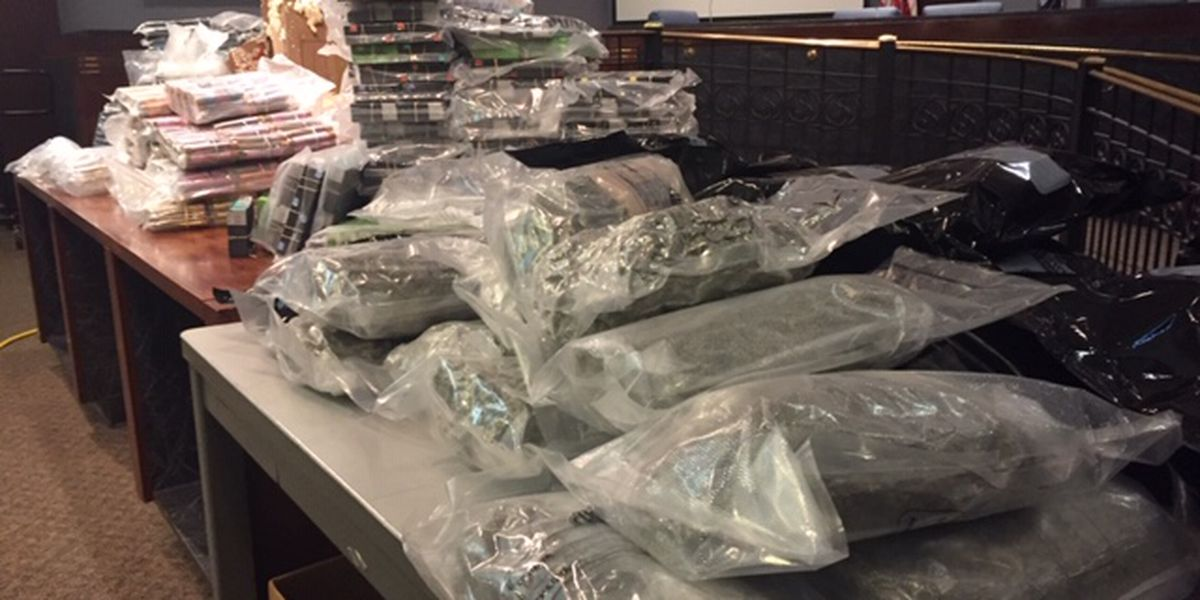 Large drug shipment found in bin in house's driveway