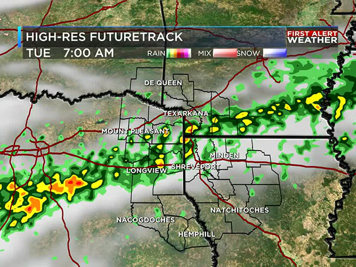 A rainy Tuesday for the ArkLaTex, more on the way