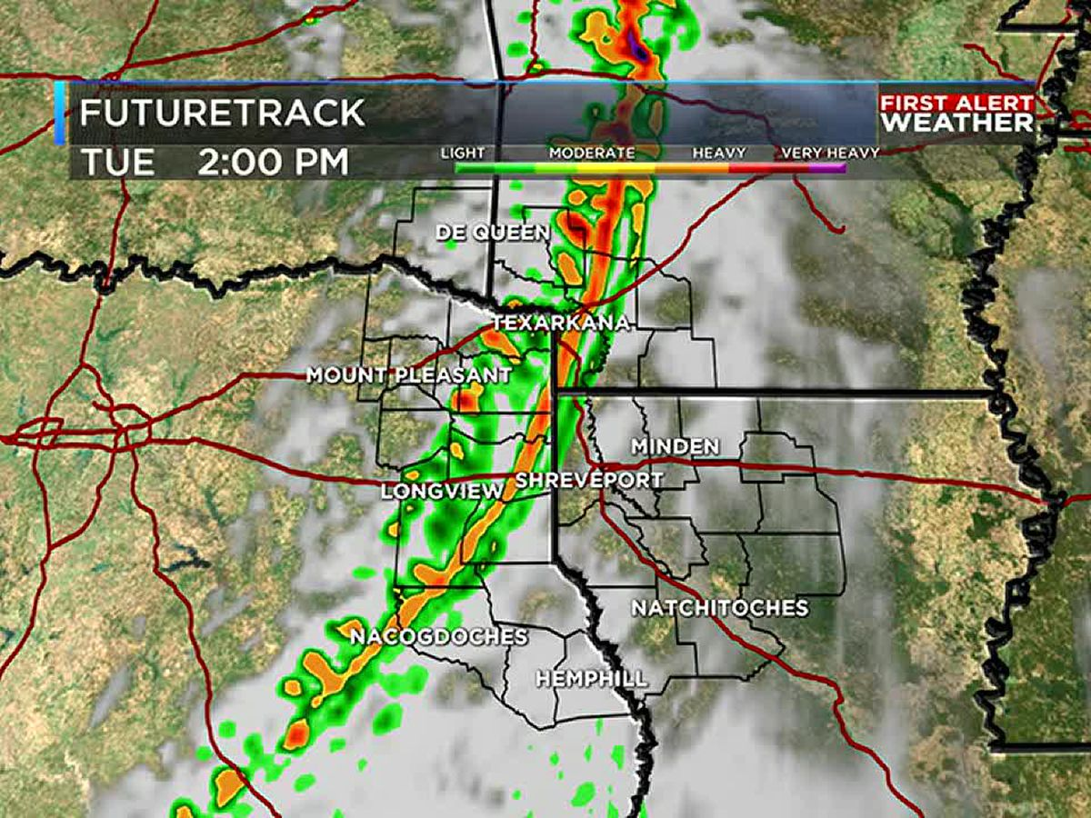 First Alert: Isolated severe weather possible with Tuesday storms