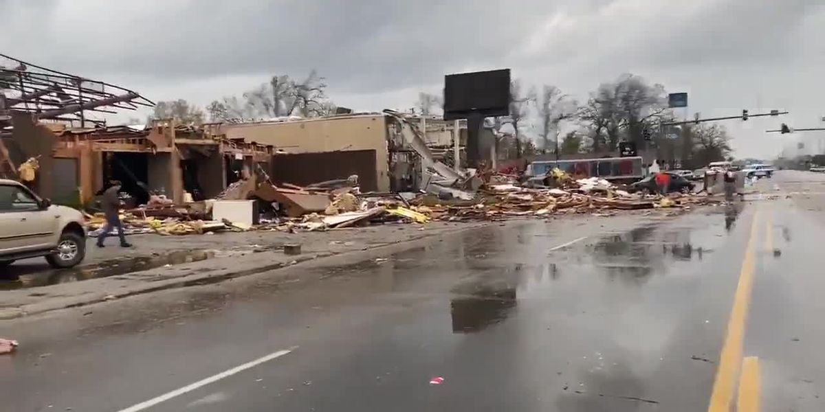 Caraway Road tornado damage