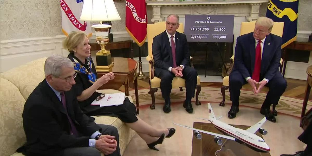 Gov. Edwards, President Trump discuss testing, reopening Louisiana's economy during private meeting
