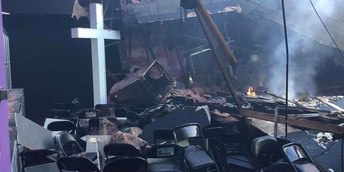 Enduring the flames: Photos of the fire at First Bossier Church