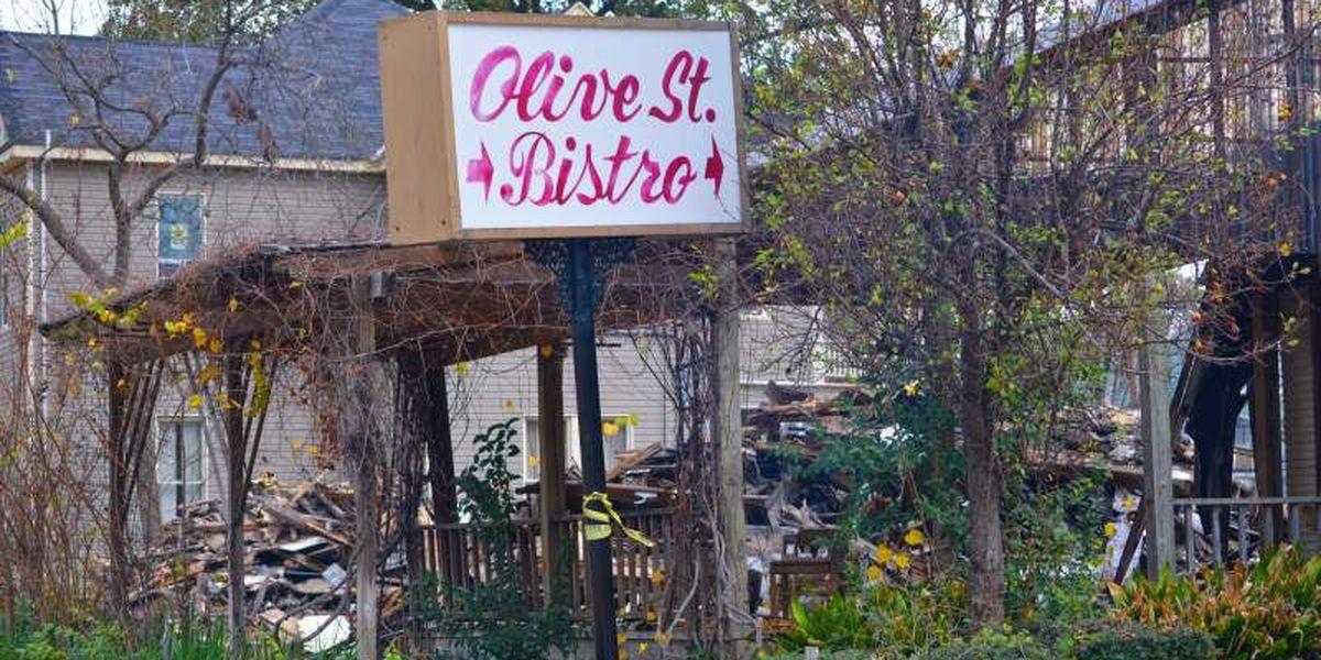 Demolition underway for Olive Street Bistro