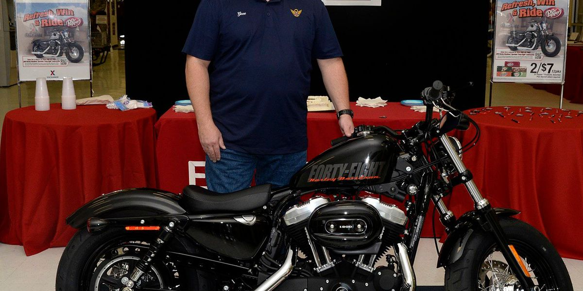 BAFB veteran wins Harley in worldwide contest