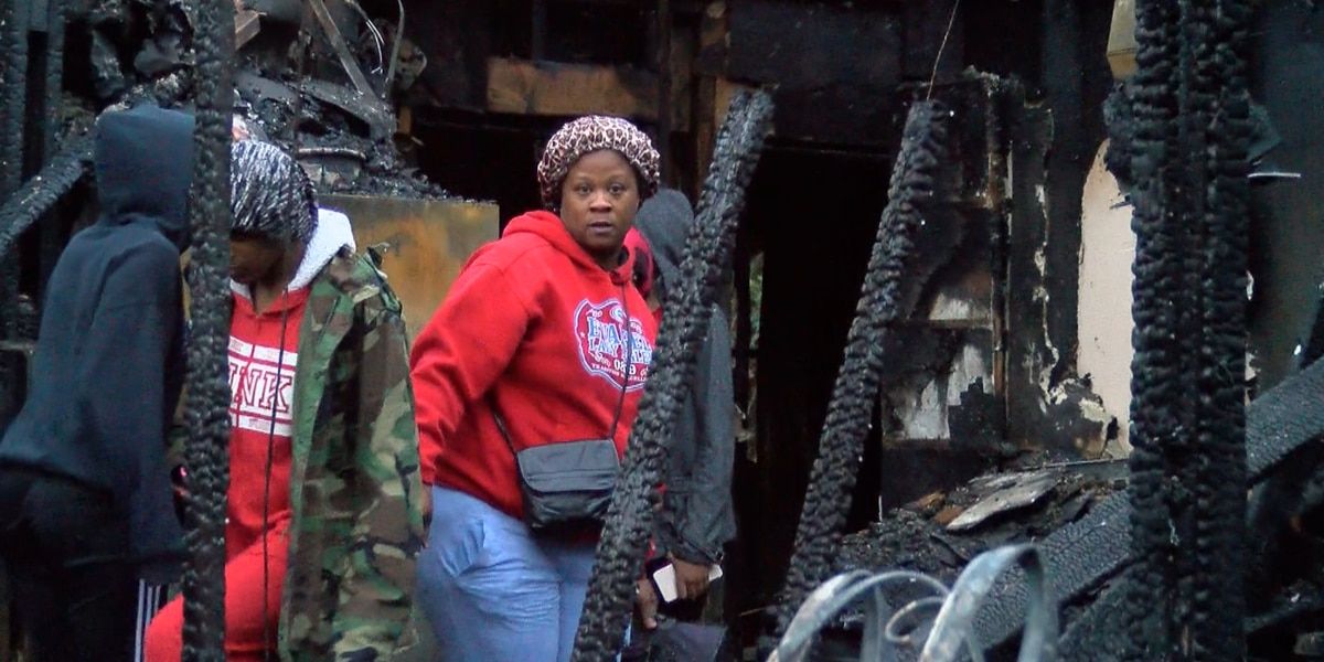 Family hears loud boom before fire destroys their home