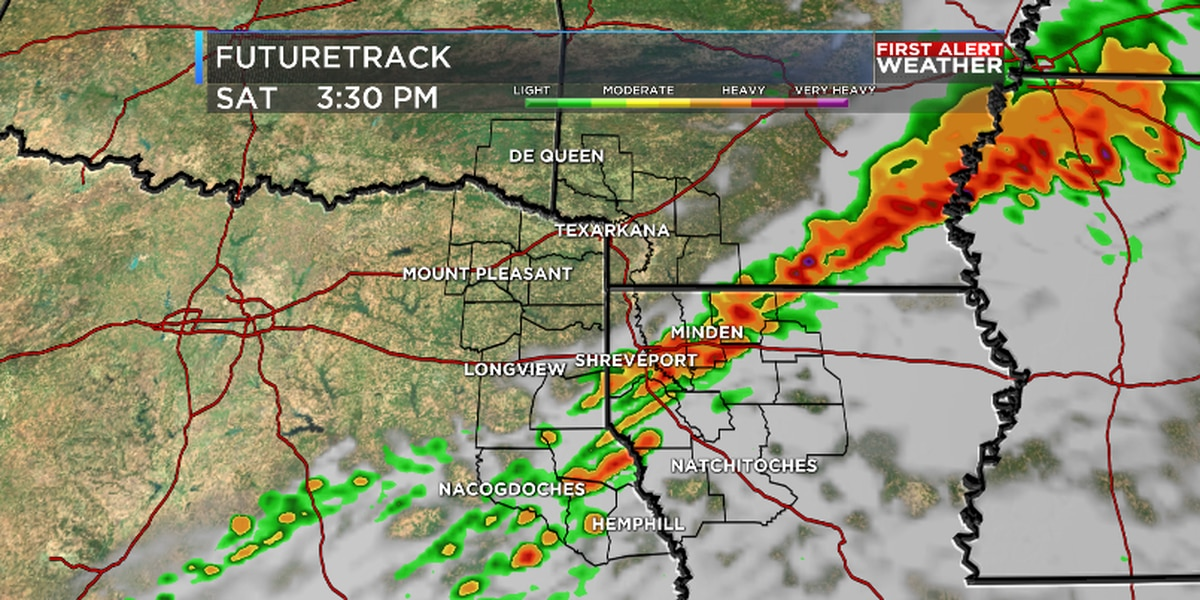 Severe storms possible on Saturday