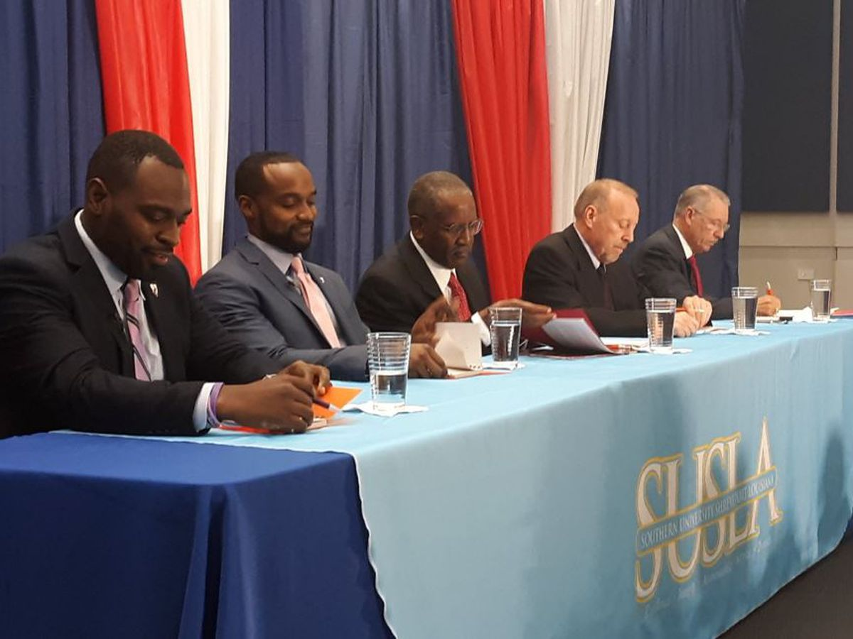 5 Shreveport mayoral candidates field questions during forum at SUSLA