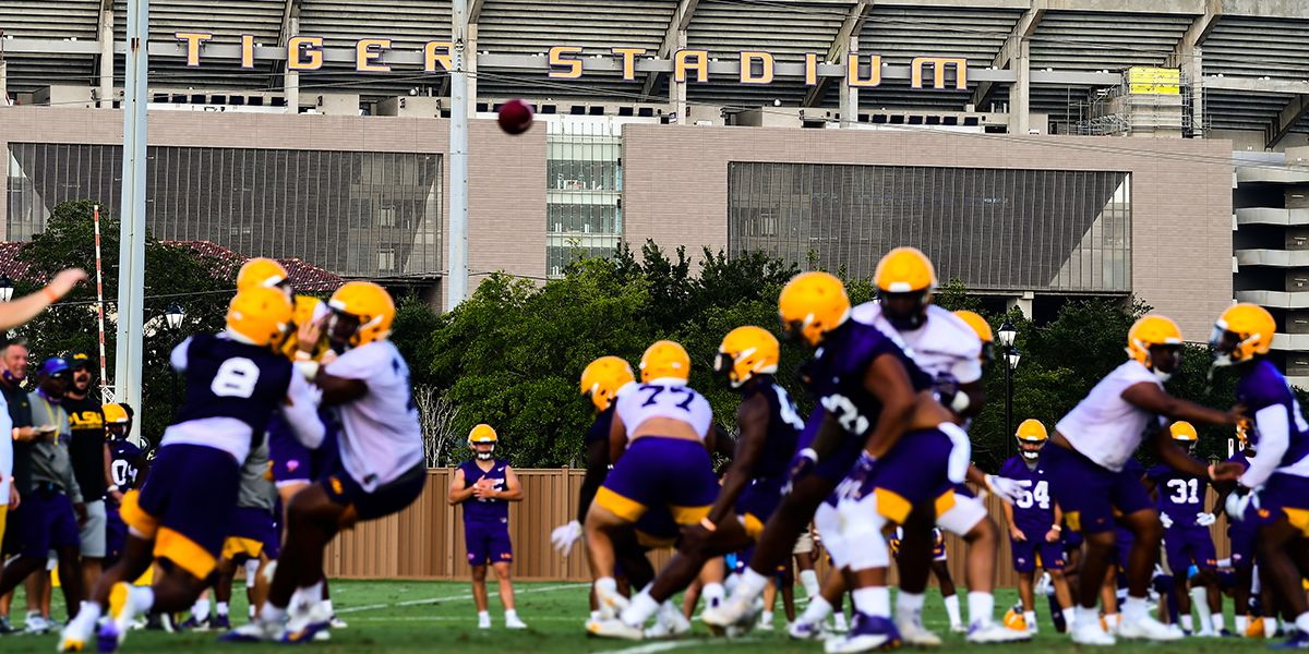 LSU hits practice field to start fall camp