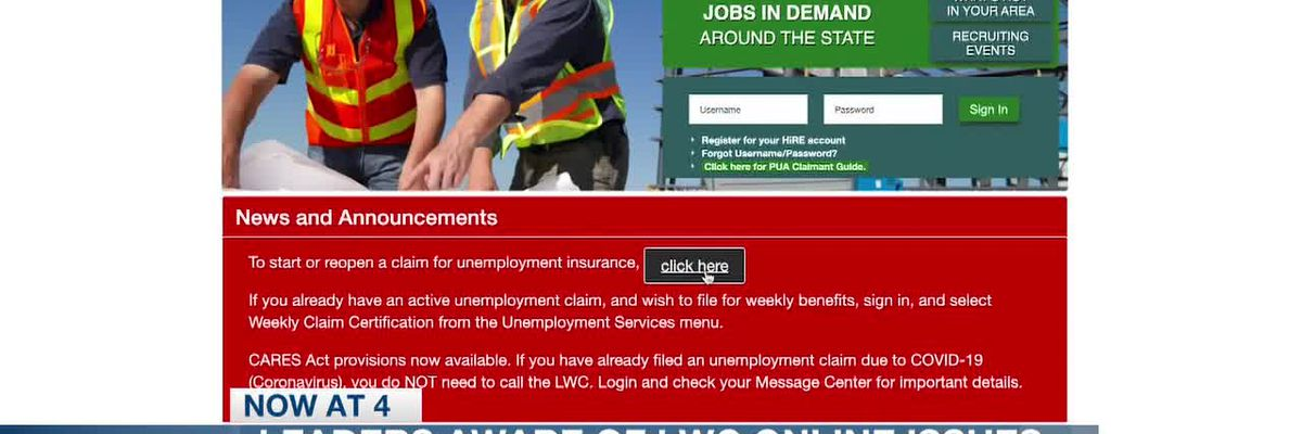 LWC leaders say they're aware of online issues; recipients will still get benefits