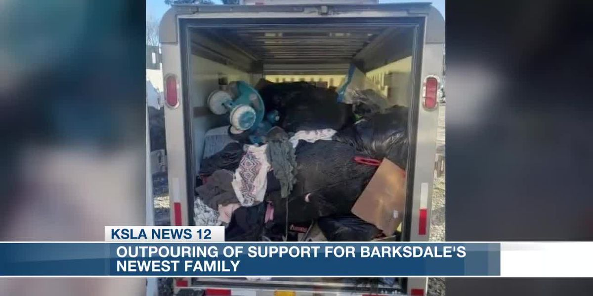 Outpouring of support for Barksdale's newest family