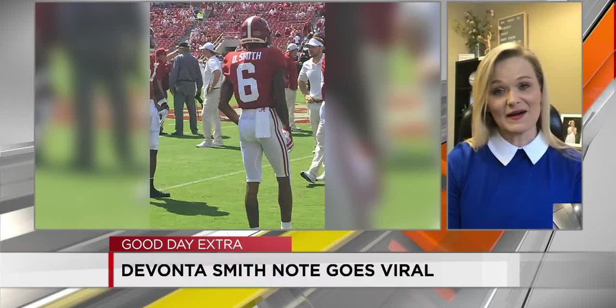 DeVonta Smith note to teacher goes viral