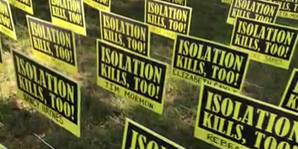 'Isolation kills, too!' signs posted in Gregg Co. to raise awareness of nursing home loneliness