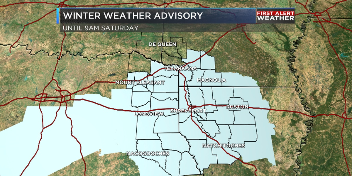 FIRST ALERT: A Winter Weather Advisory is in effect tonight