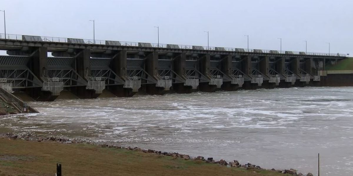 Millwood Lake levels lowered in preparation for rainy weather