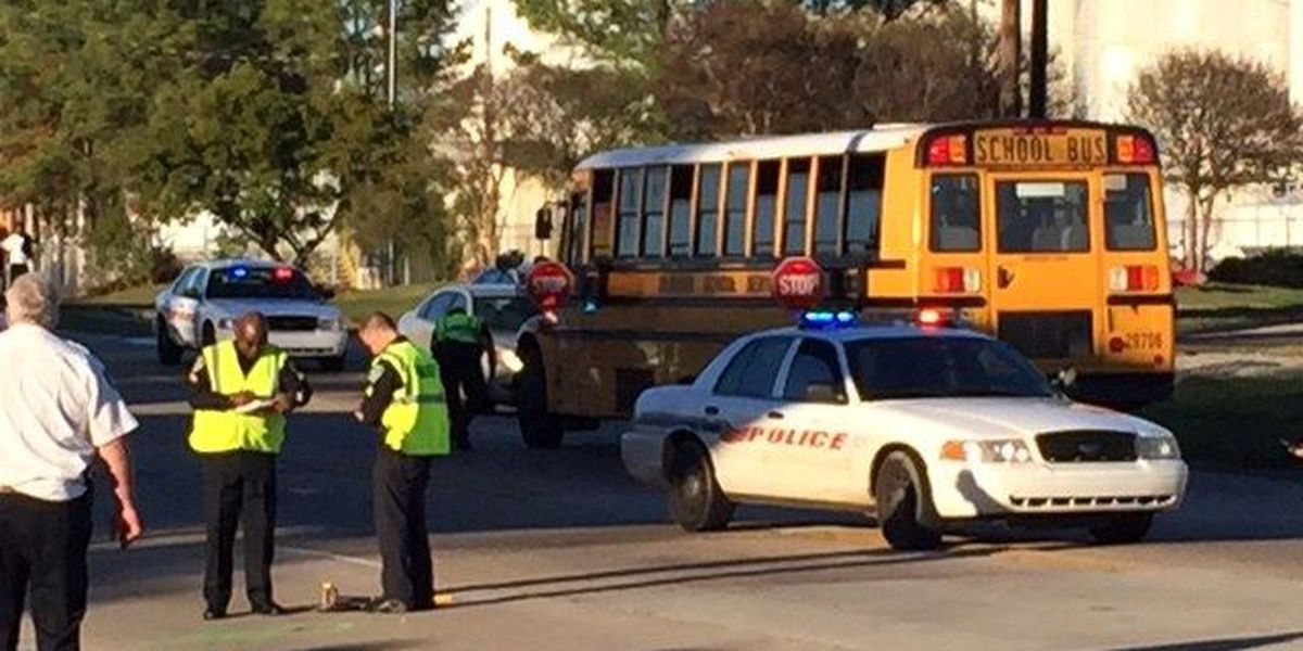 Young girl hit by SUV after getting off school bus