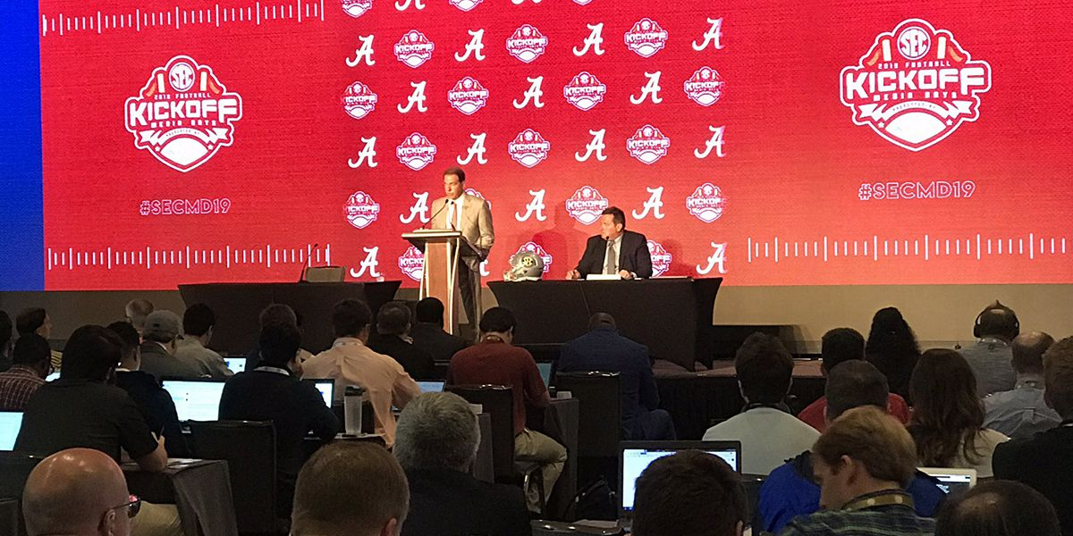 SEC Media Days features Alabama, Arkansas, Mississippi State, and South Carolina on Day 3