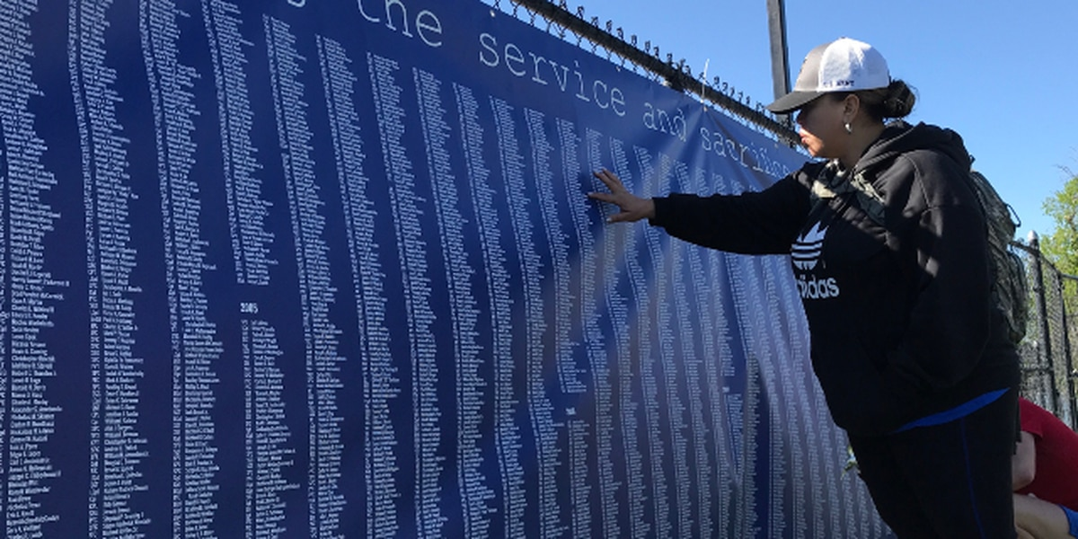 Barksdale group joins communities worldwide for 'wear blue run to remember'