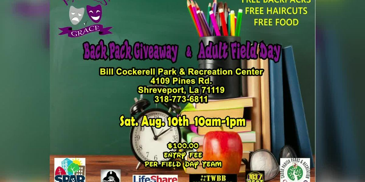 Faces of Grace, Inc. to host backpack giveaway, adult field day