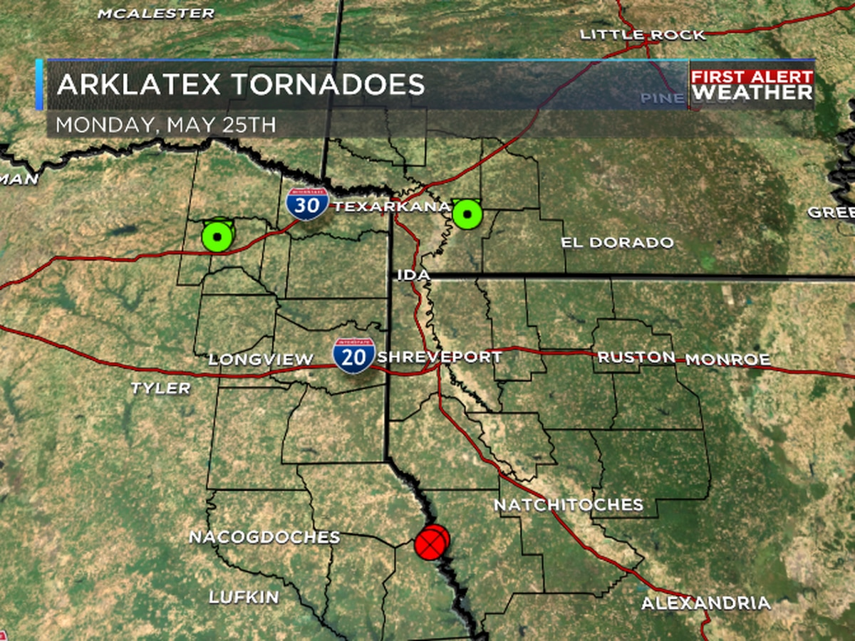 Storms last Monday responsible for 3 ArkLaTex tornadoes
