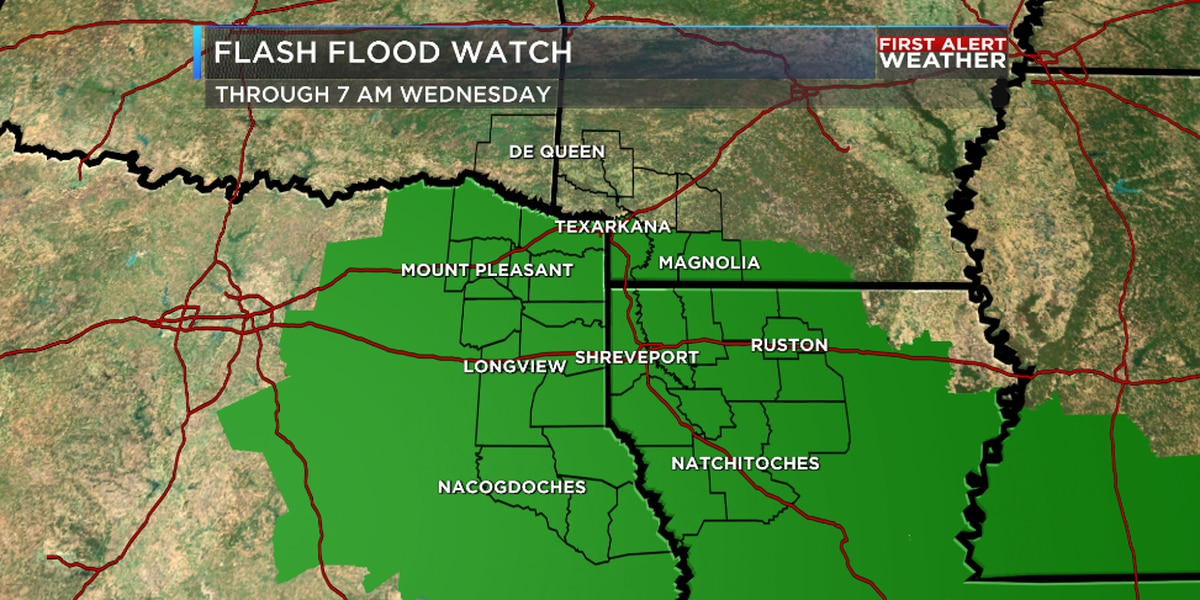 Flash Flood Watches through Wednesday