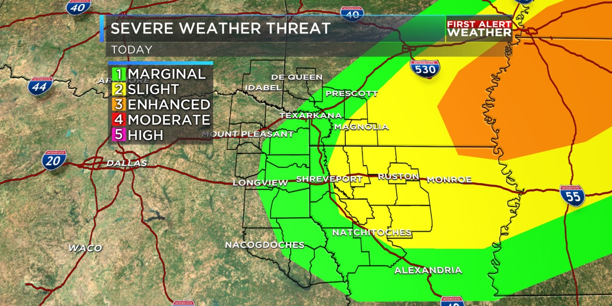 FIRST ALERT: Isolated strong to severe storms tonight
