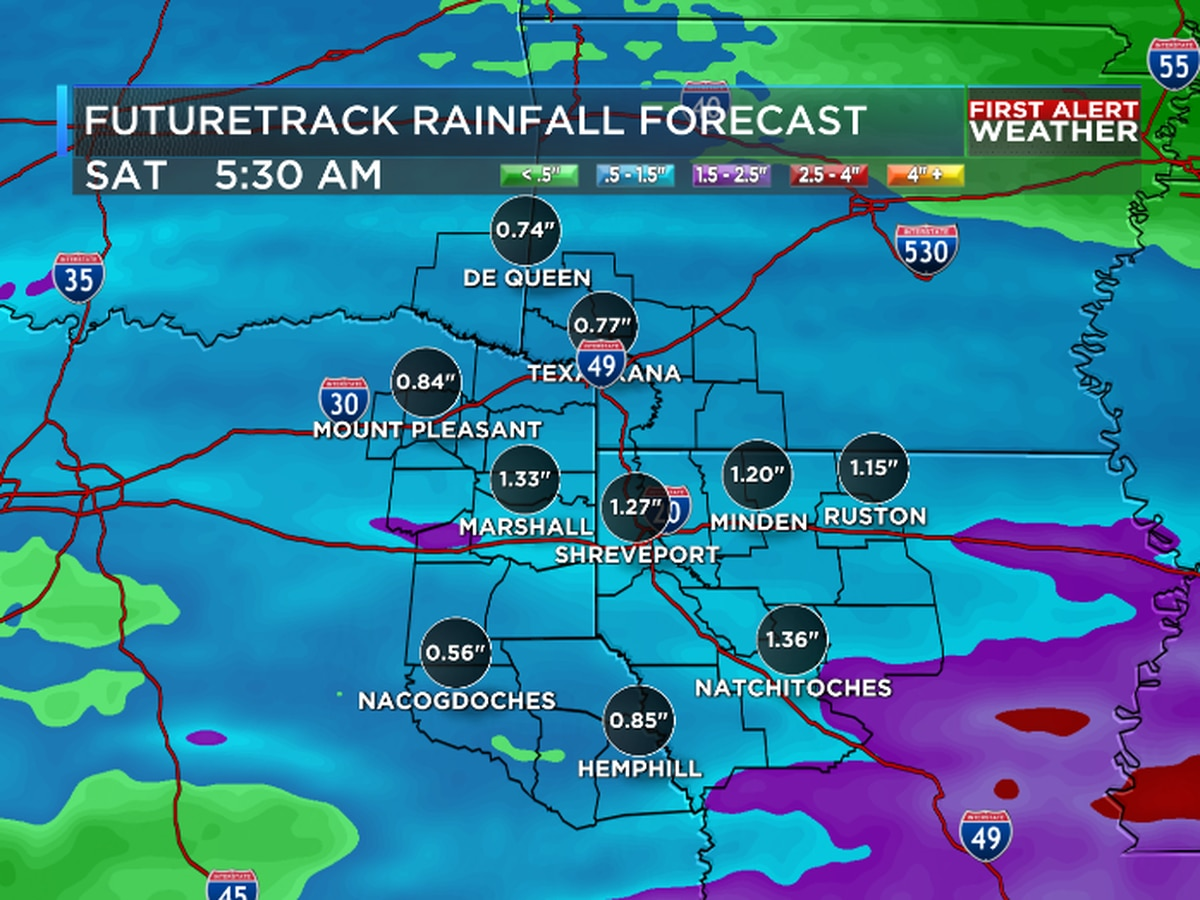 Next round of rain and storms arrives Friday