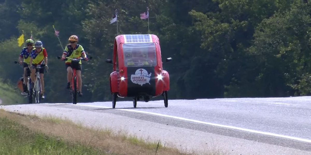 Woman bikes across America for Christ, and to make class reunion