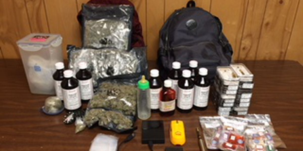 Deputies: Driver arrested after traffic stop yields nearly 3 lbs. of marijuana, 9 bottles of promethazine