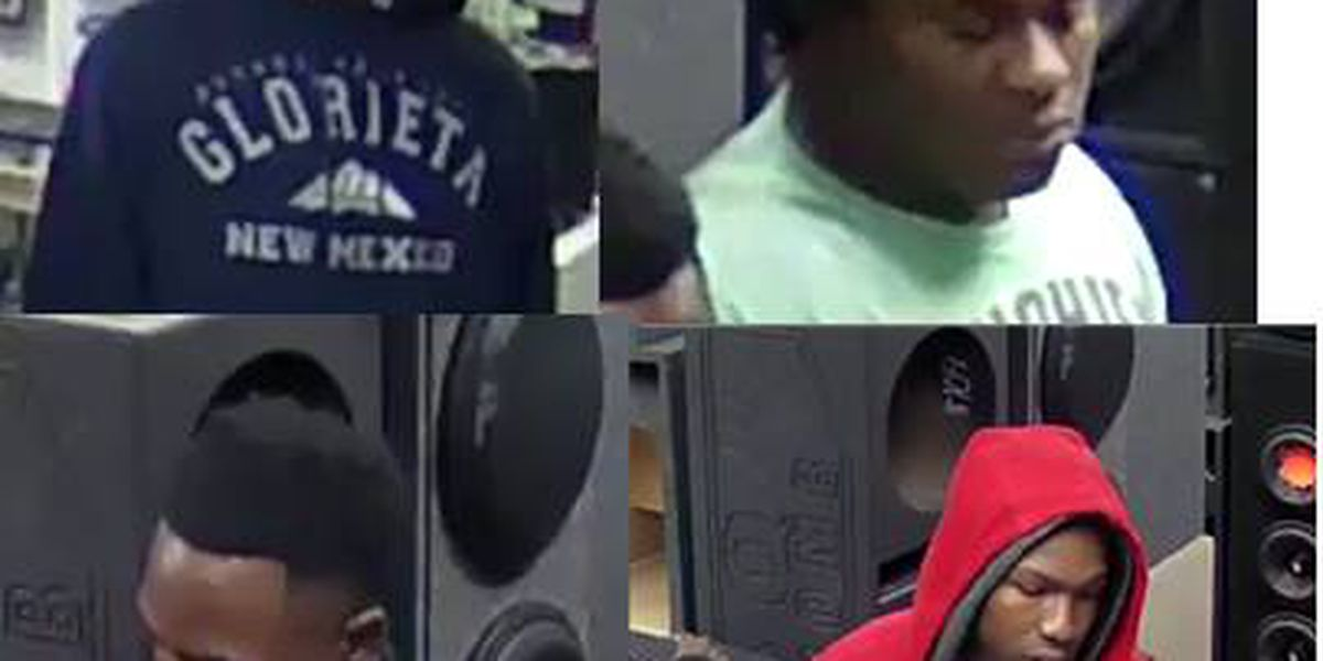 Police seek identities of several suspected thieves