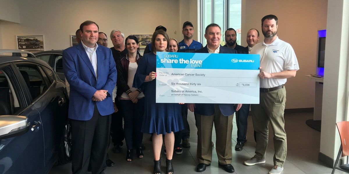 Bossier City car dealership donates to American Cancer Society