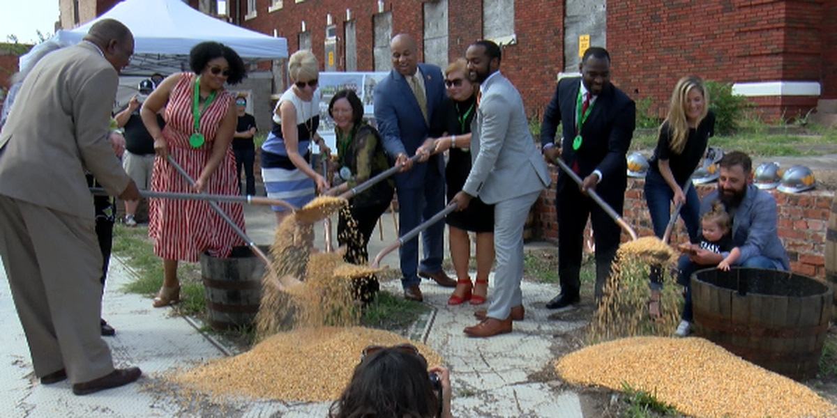 Corn shoveled to break ground for Every Man A King distillery