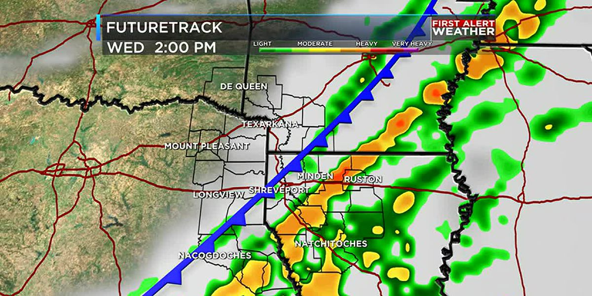 Strong cold front arrives just in time for the holiday