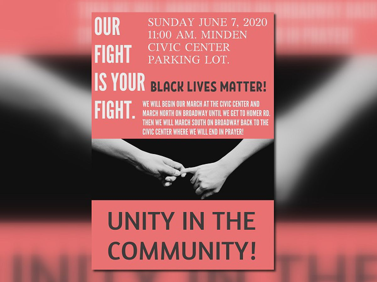 Minden protest march planned for Sunday, June 7