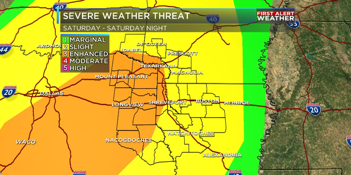 FIRST ALERT: Enhanced risk of severe weather Saturday - Saturday night