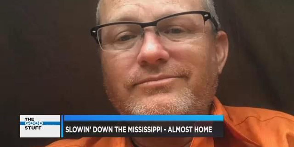 Man on home stretch of slowin' down the Mississippi