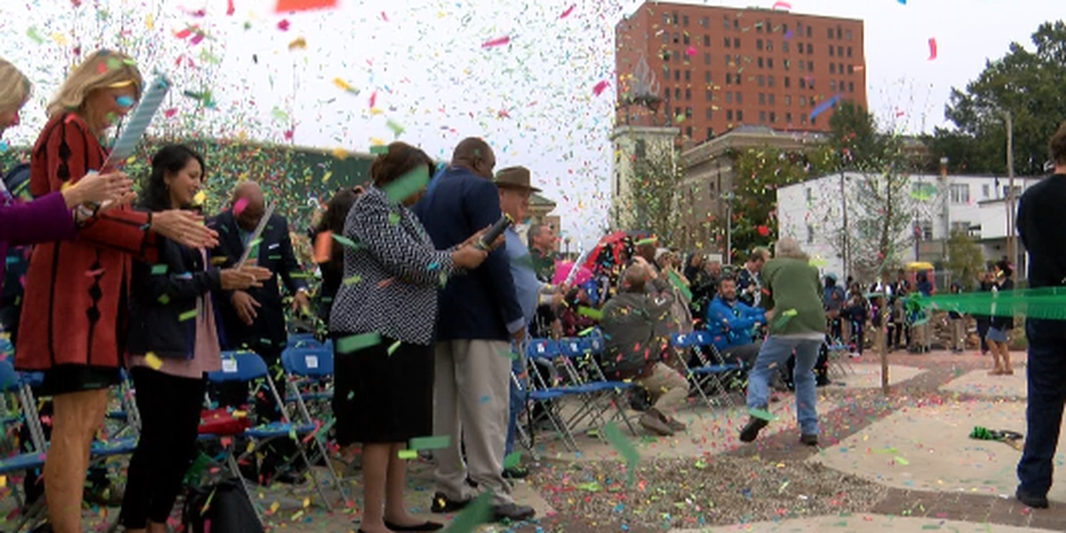 Hundreds gather to celebrate grand opening of Caddo Common Park