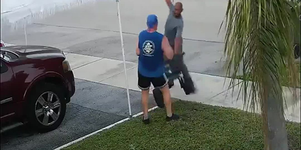 Florida man attacks jogger with sword after dispute over trash