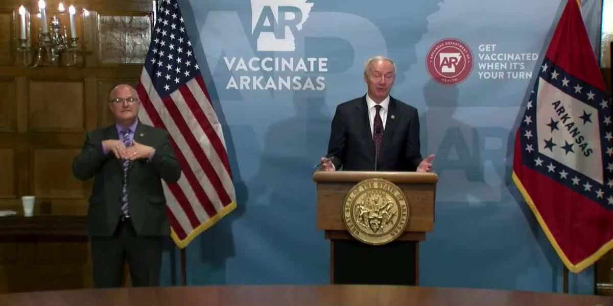 FULL VIDEO: Gov. Asa Hutchinson holds weekly COVID-19 briefing | April 13, 2021