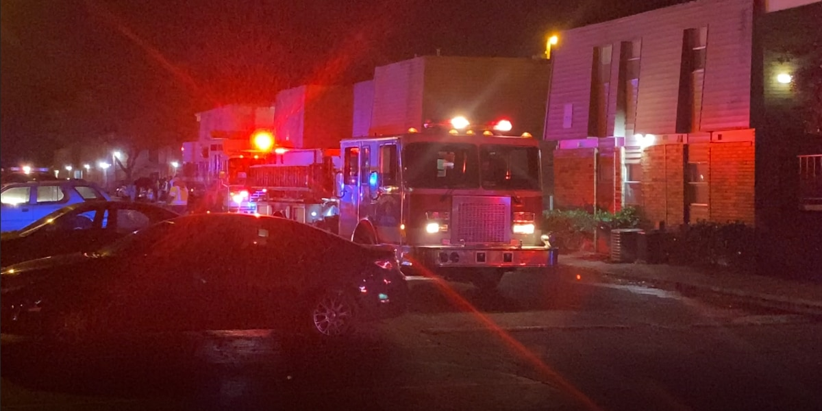 Apartment fire leaves four families displaced